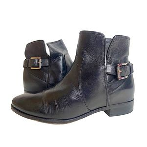 Michael Kors Leather Booties Wrap Strap Buckle 8